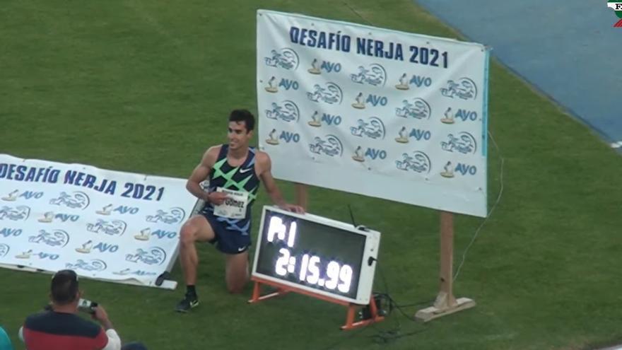 Jesús Gómez destroza la marca de Cacho en los 1.000 metros