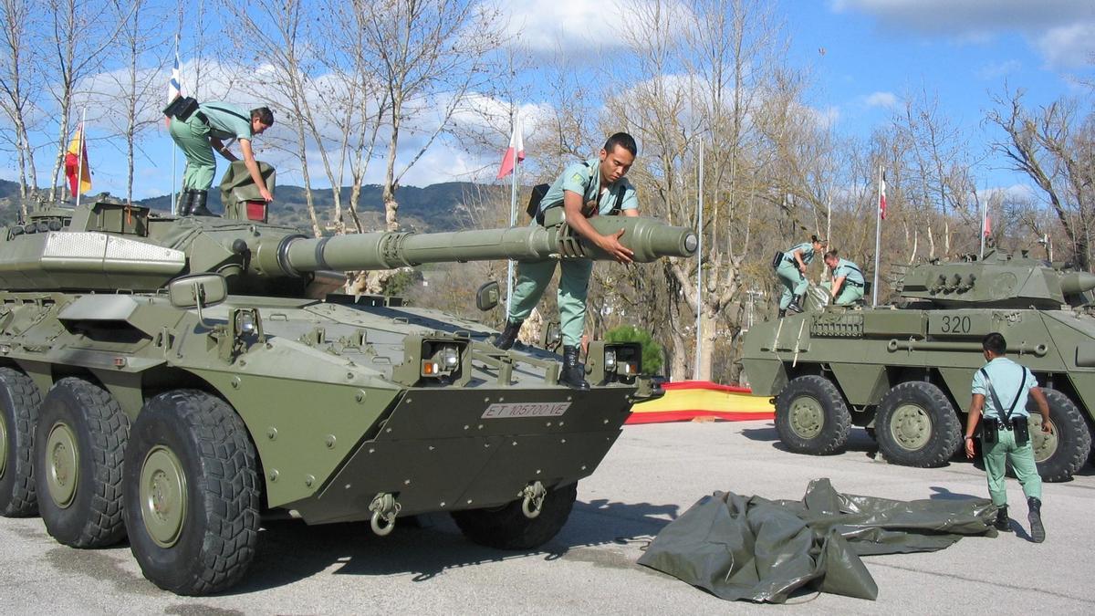Efectivos de la Legión en Ronda.