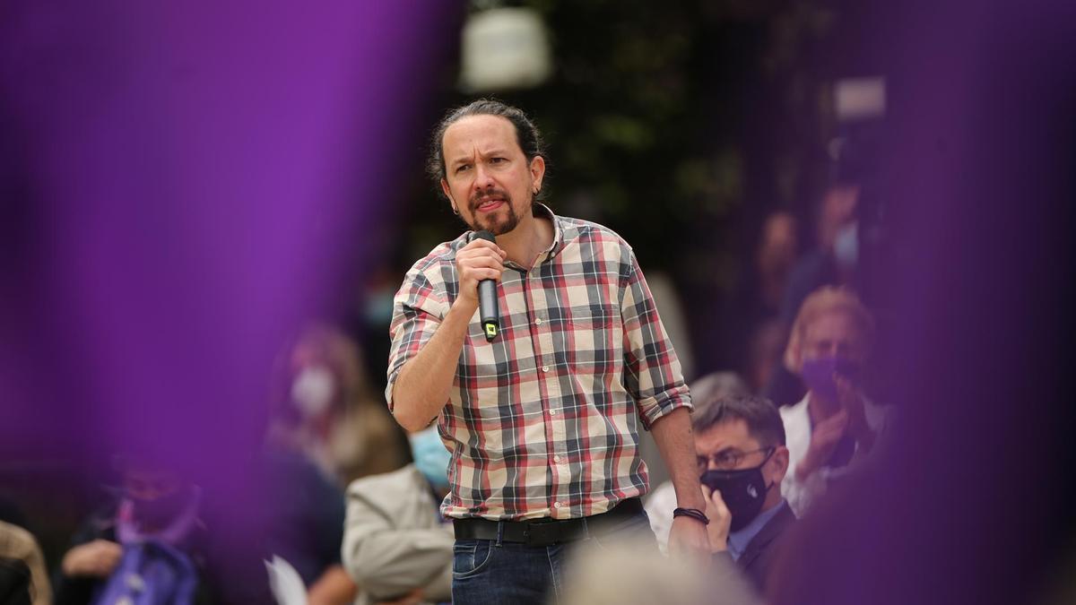 El líder de Unidas Podemos, Pablo Iglesias.