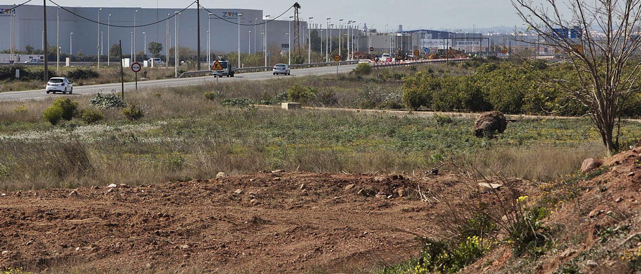 Terrenos que ocupará la segunda fase de Parc Sagunt. | DANIEL TORTAJADA