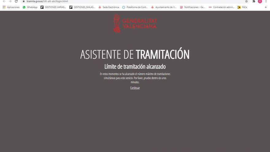 La web para pedir ayudas al sector del ocio se colapsa por el elevado número de peticiones