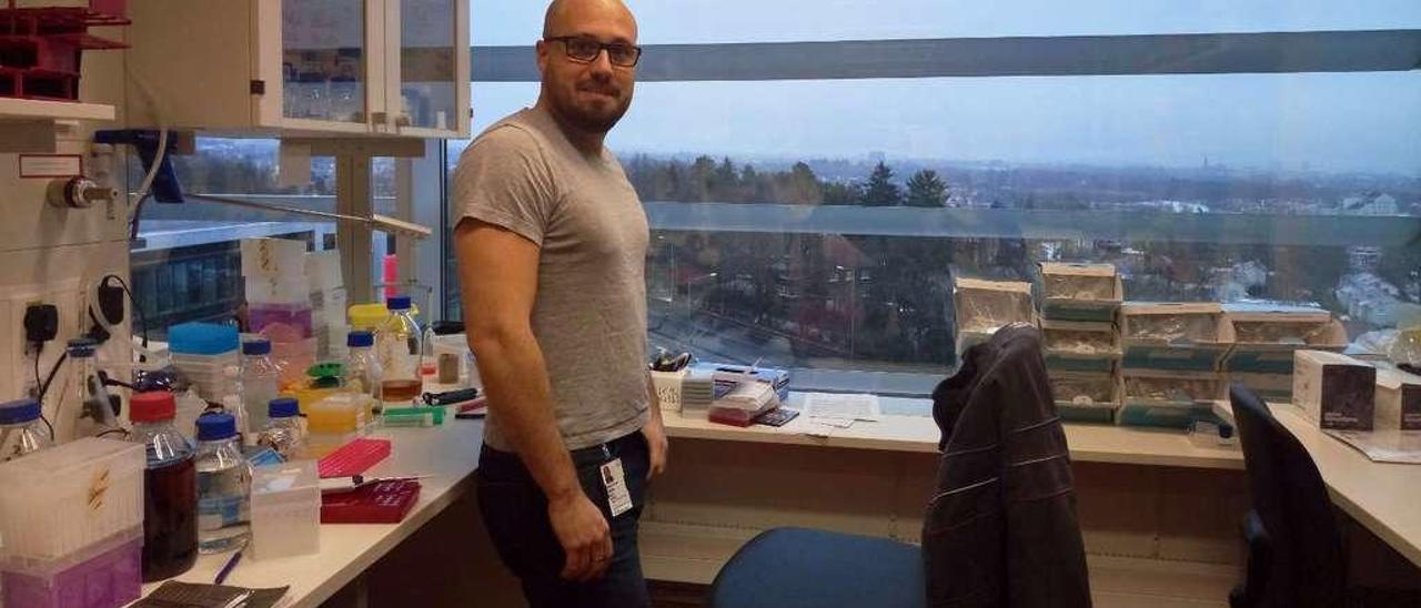 Ignacio García, en su laboratorio de Oslo.