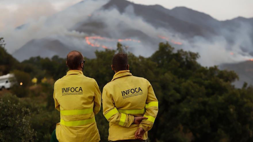 Un experto alerta de la posibilidad de inundaciones en Estepona a causa del incendio de Sierra Bermeja