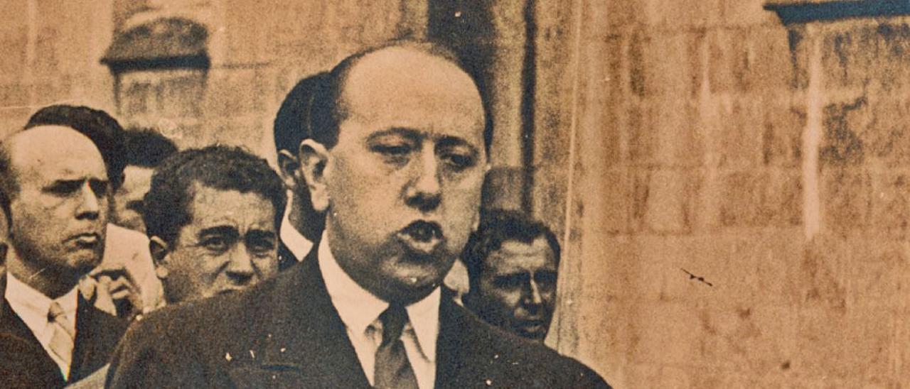 Gil-Robles, durante un discurso en la región. | M. U.