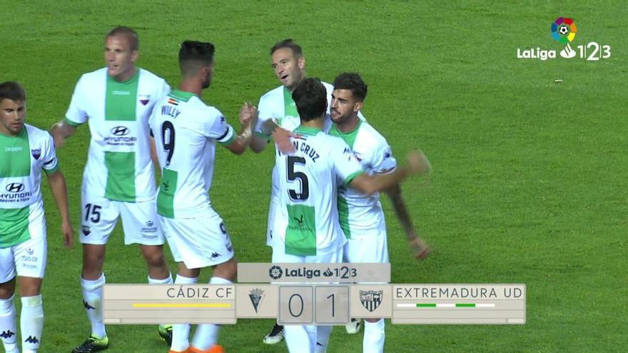 LaLiga 123: Los goles del Cádiz- Extremadura (0-1)