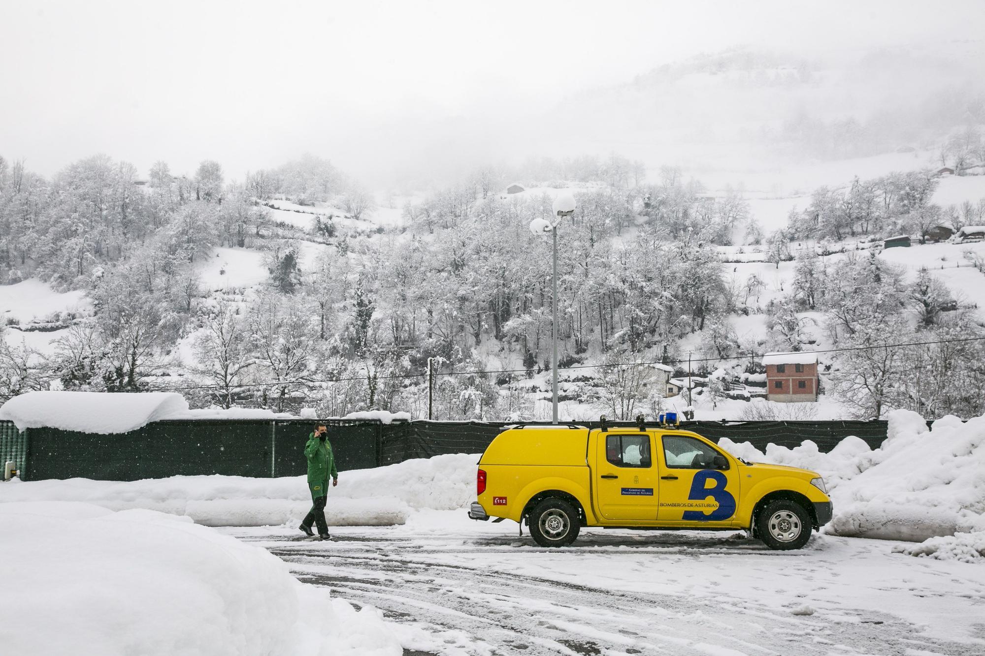 Así es la nevadona que ha sorprendido a Asturias primeros de año