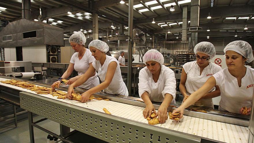 Anitín comienza a producir pan tostado tras invertir 11 millones en la nave de Carlet