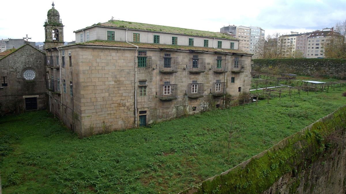 Una vista del convento de Santa Clara en Pontevedra
