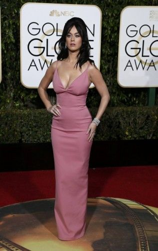 Singer Katy Perry arrives at the 73rd Golden Globe Awards in Beverly Hills