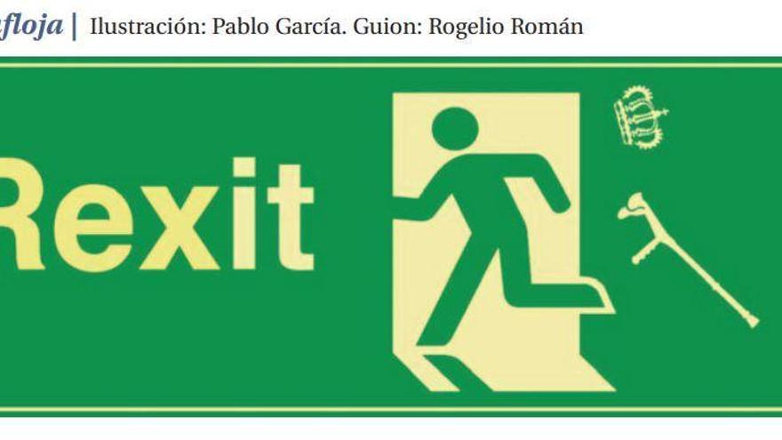 La salida del Juan Carlos I afila el humor de los viñetistas