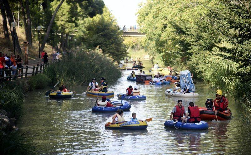 Bajada del Canal de Torrero en Zaragoza