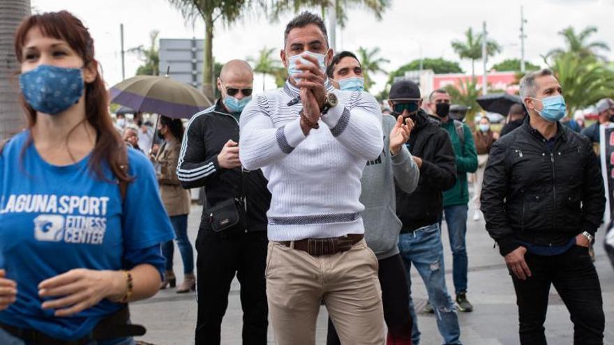 Los gimnasios de Tenerife salen a la calle en demanda de ayudas por la crisis del Covid