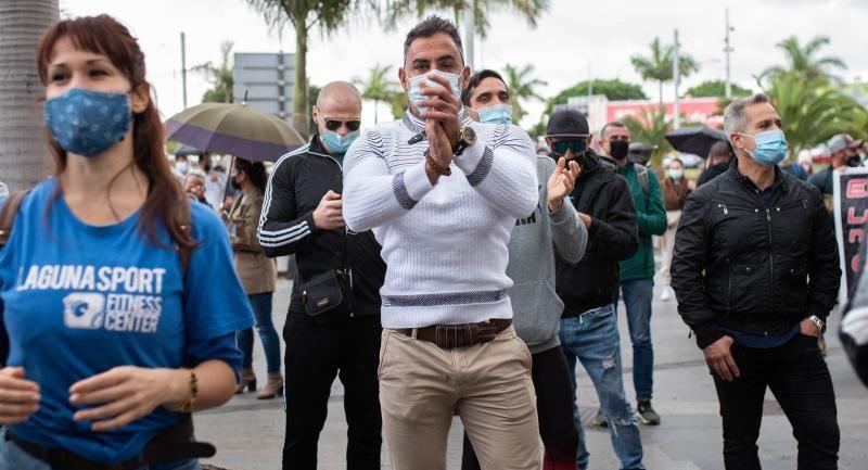 Los gimnasios de Tenerife salen a la calle en demanda de ayudas por la crisis del Covid-19