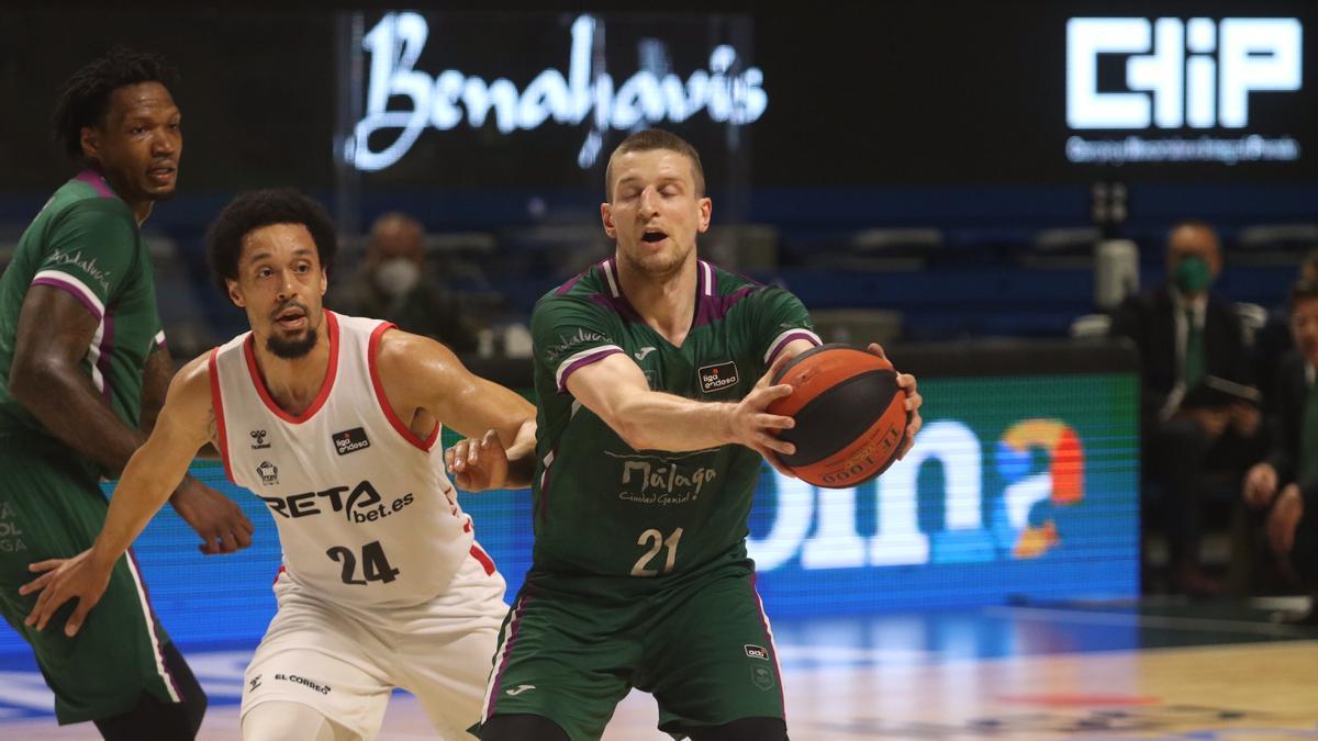 Partido de la Liga Endesa entre el Unicaja y el Bilbao Basket
