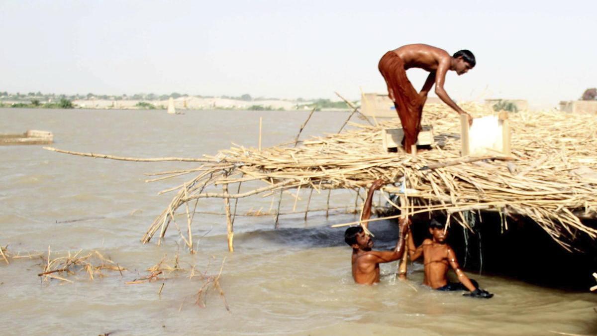 Efectos de las lluvias del monzón