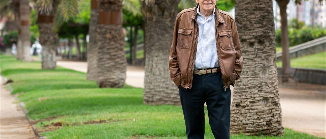 Óscar Gutiérrez Ojeda, esta semana en el Parque Romano.