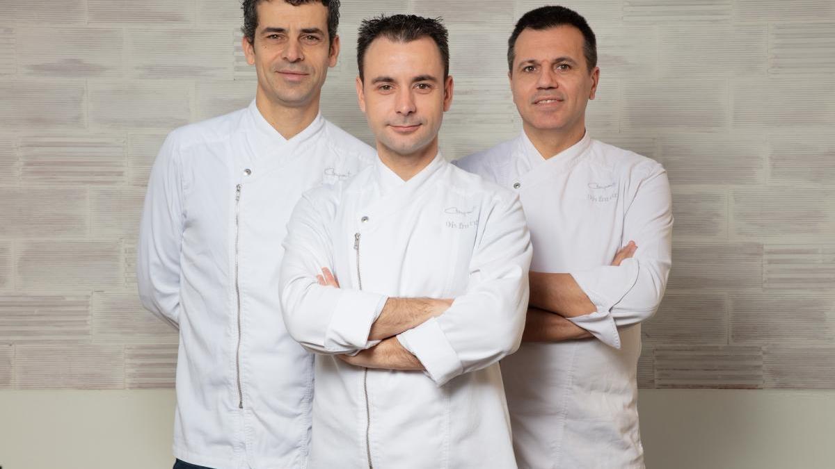 Mateu Casañas, Eduard Xatruch i Oriol Castro, d'esquerra a dreta.