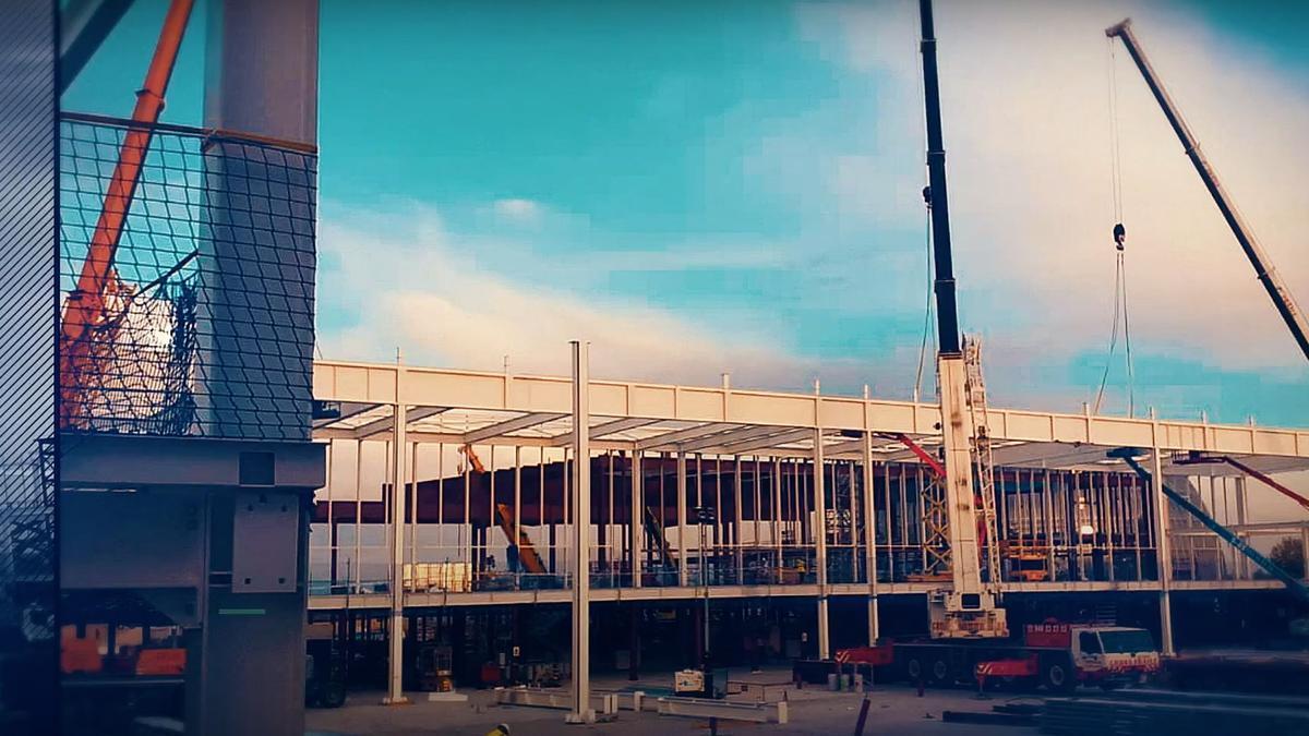 Trabajos de la firma estradense en el Hospital Zendal de Madrid.