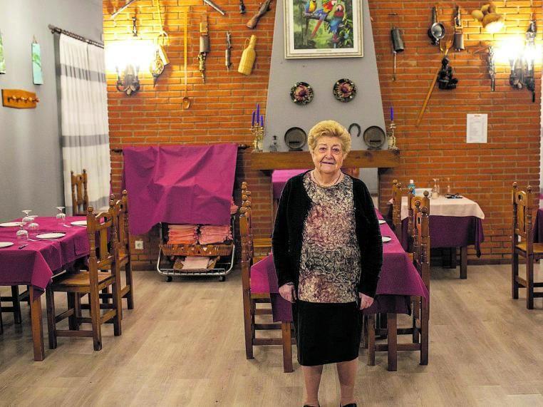 Aurelia en su restaurante Casa Aurelia.