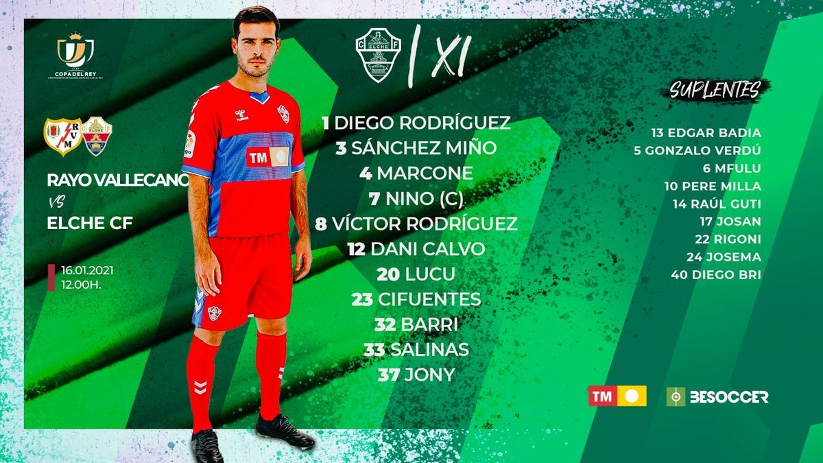 Once inicial del Elche