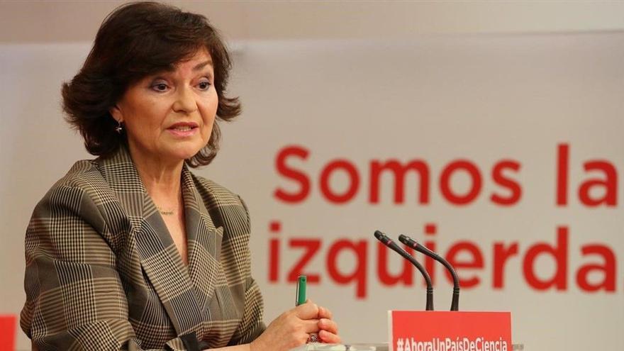 Carmen Calvo, premio Adela Cupido del PSOE de Badajoz