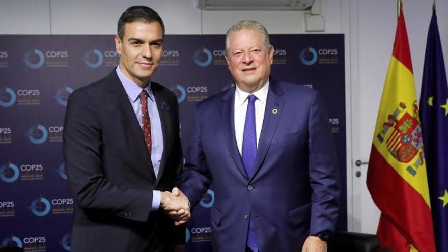 Sánchez se reúne con diversas personalidades en la cumbre del clima