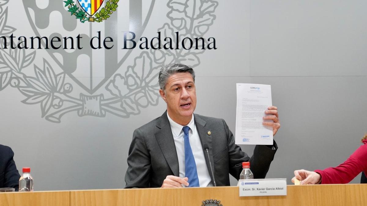 El alcalde de Badalona, Xavier García Albio.