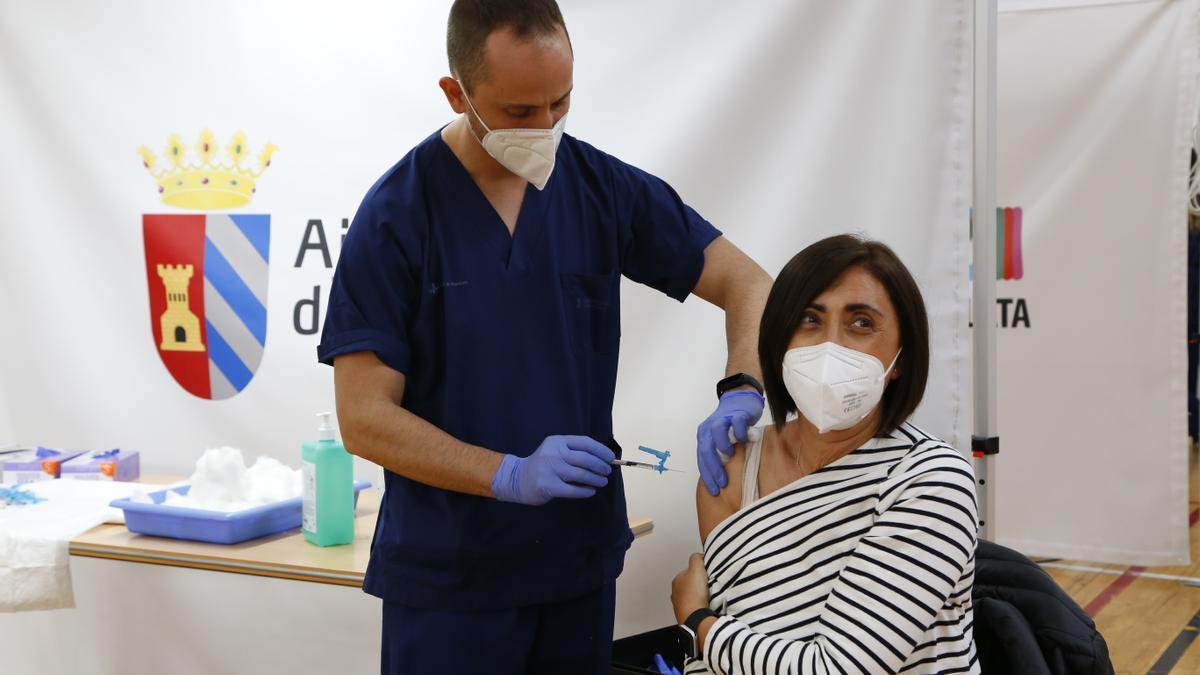 Vacunación de docentes en l'Horta