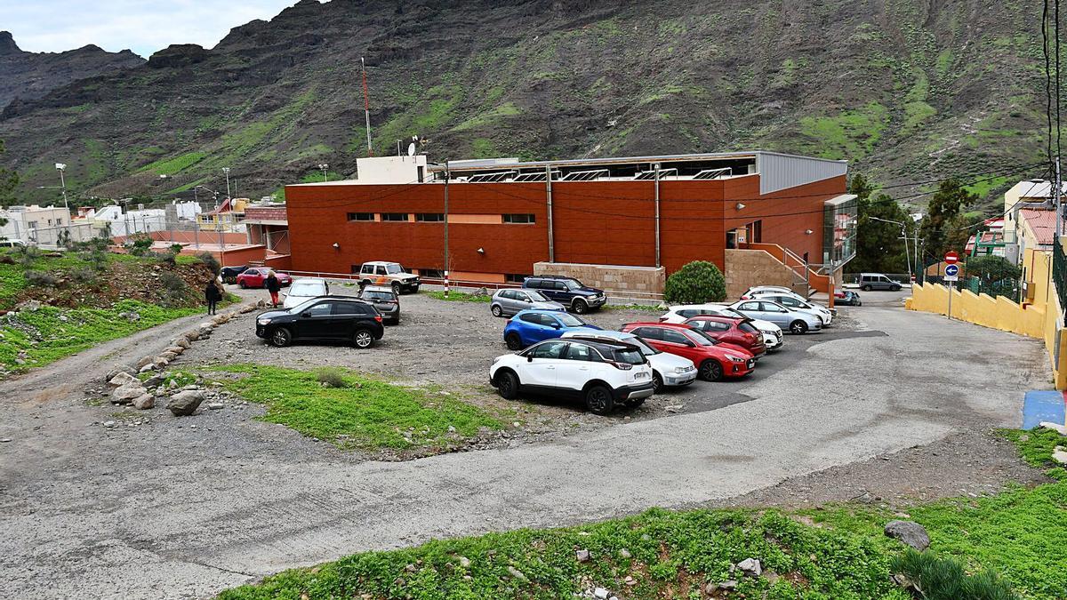 Actual estacionamiento para la zona deportiva del casco de Mogán. | | LP/DLP