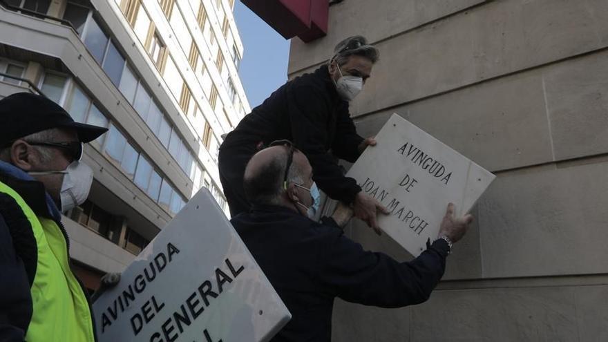 Palma suprime la avenida Joan March en medio de la polémica