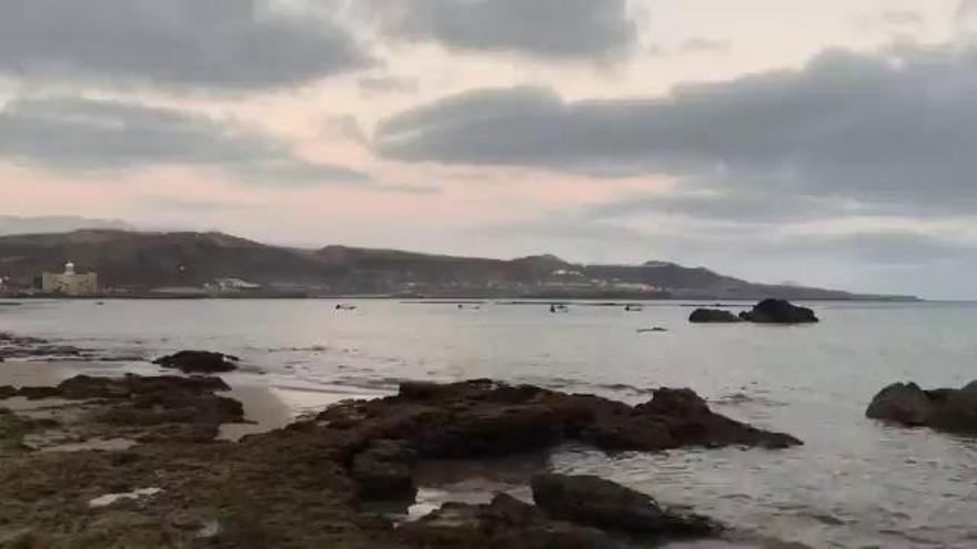 Tiempo en Canarias | Atardecer en la playa de Las Canteras