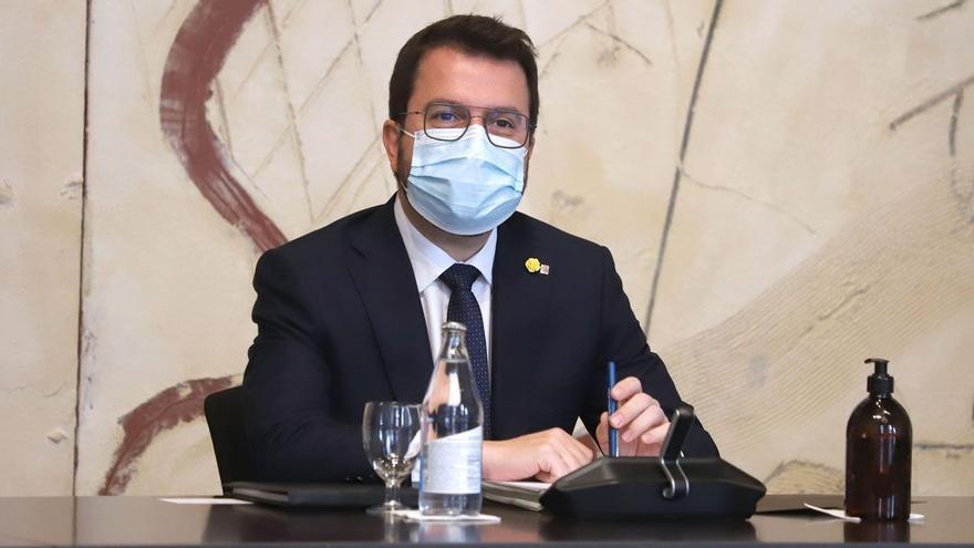 Aragonès exige celeridad a Sánchez en la tramitación de los indultos
