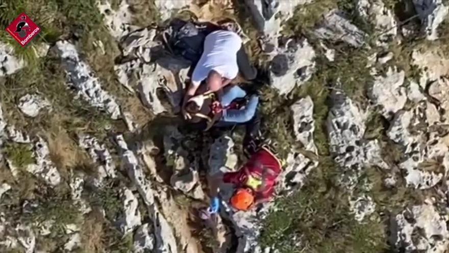 Rescatan a una mujer herida en el Montgó