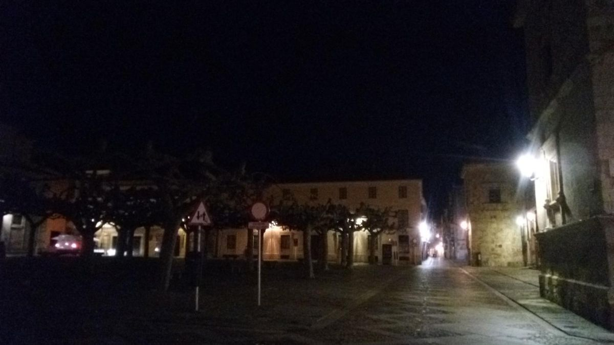 La plaza de Viriato, esta mañana de lunes.