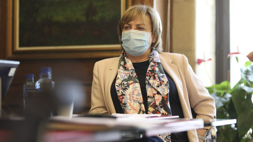 Mariví Monteserín, alcaldesa de Avilés hace balance de mitad de mandato