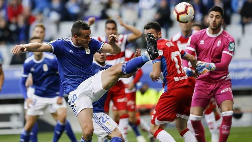 El Oviedo fue mejor en la primera parte, pero luego acusó el gol del Granada