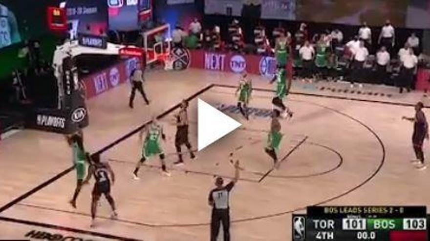 Video | El triple sobre la bocina de Anunoby que salva a los Raptors