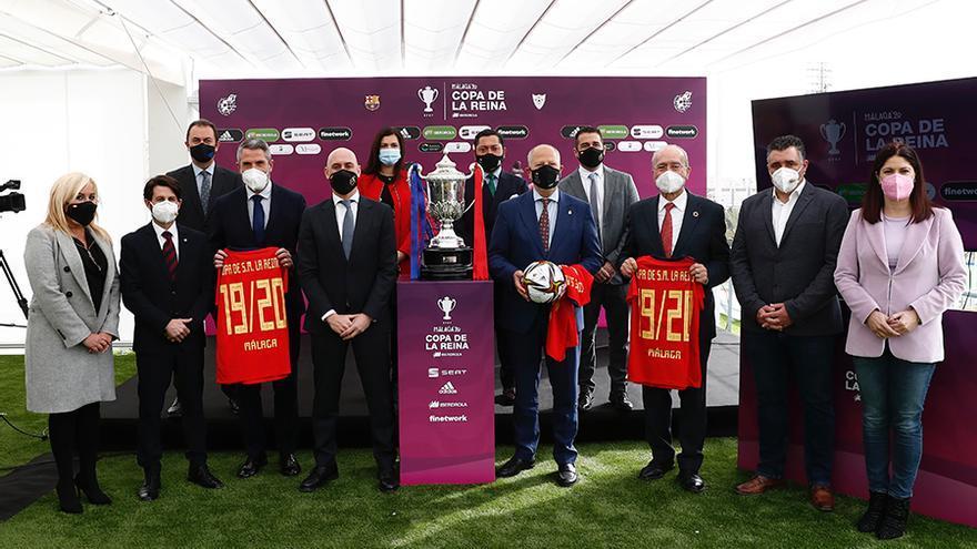 Málaga, lista para la final de la Copa de La Reina entre el FC Barcelona y el EDF Logroño