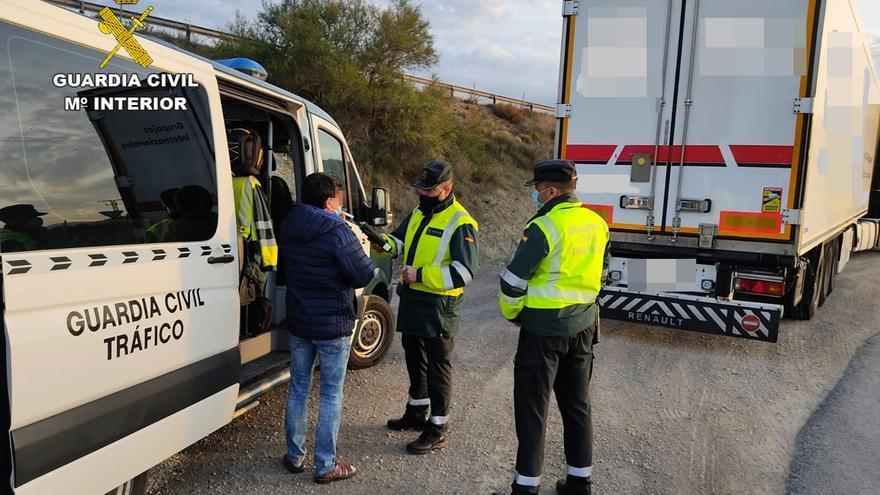 'Cazado' un camionero que sextuplicaba la tasa de alcoholemia en Lorca