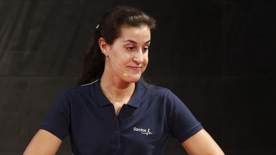 Carolina Marín continúa su recuperación con la vista puesta en París 2024