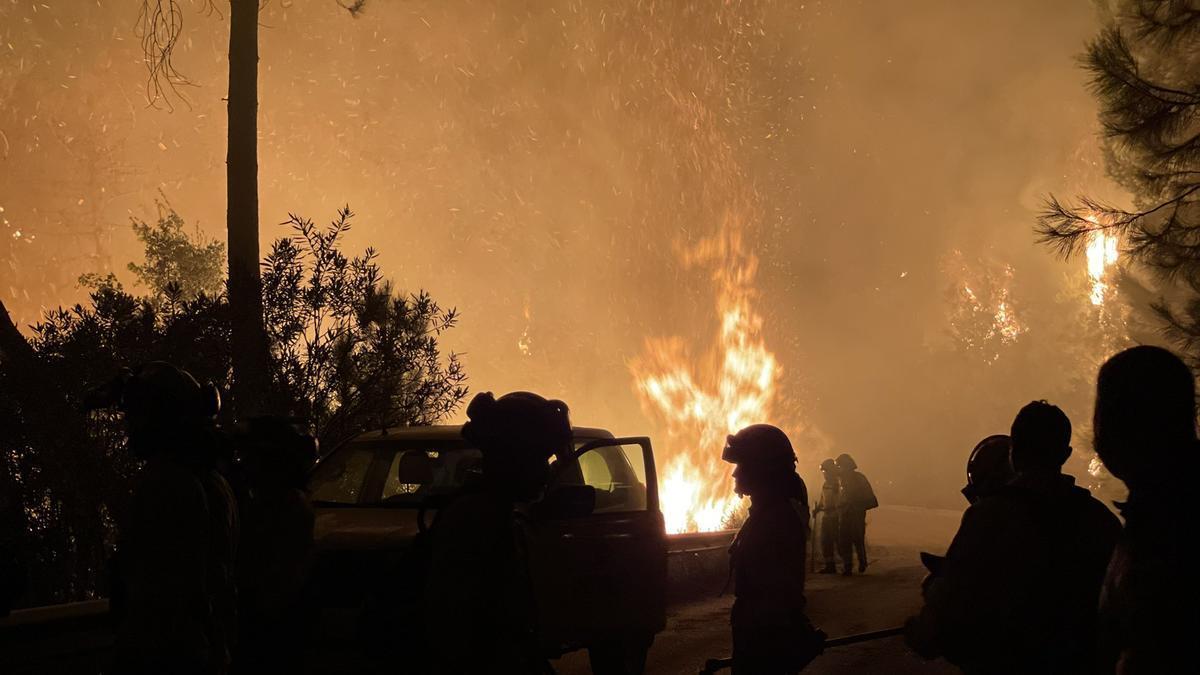 Un incendio en Sierra Bermeja afecta a Jubrique, Genalguacil y Estepona