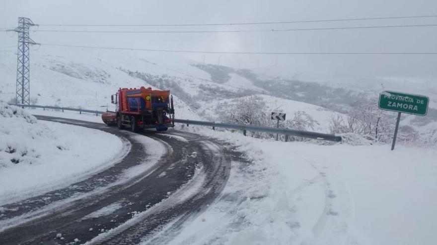 Nieve en la comarca de Sanabria.