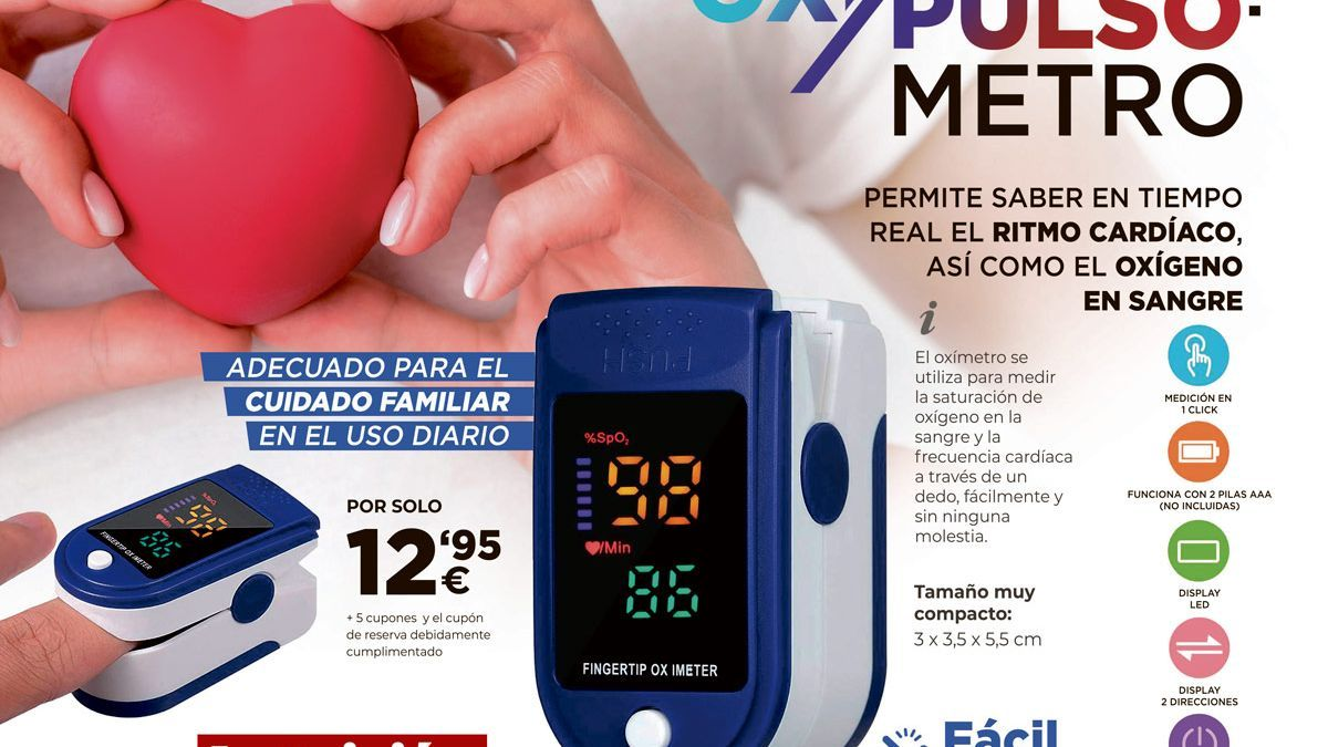 Promoción Oxipulsómetro