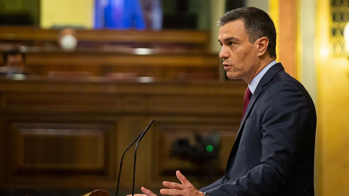 President espanyol, Pedro Sánchez, durant el ple del Congrés dels Diputats d'aquest 30 de juny.