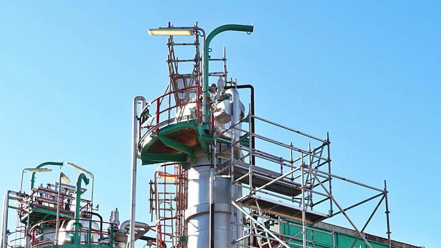 Repsol 'para las máquinas' en su planta de lubricantes
