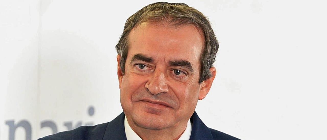 Francisco Moreno, en presidencia del Gobierno de Canarias, el día de su toma de posesión en RTVC. | | JOSE CARLOS GUERRA