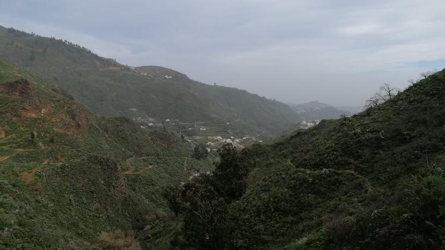 Barranco de La Mina, en San Mateo (20/02/2021)