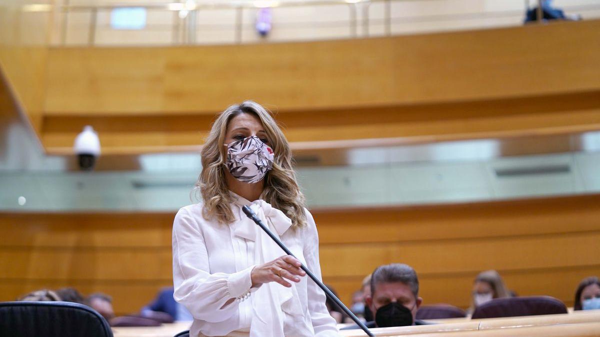 Sesión de control al Gobierno en el Senado , en la imagen Yolanda Díaz.