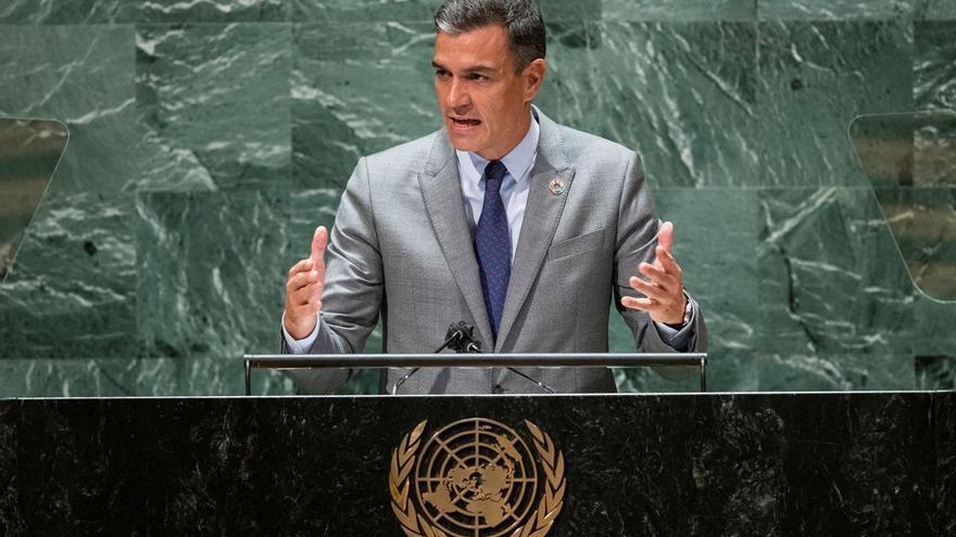 """Sánchez advierte en la ONU: """"La democracia está amenazada"""""""