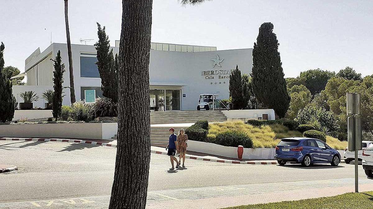 Imagen tomada la pasada semana del hotel Iberostar Club Cala Barca.